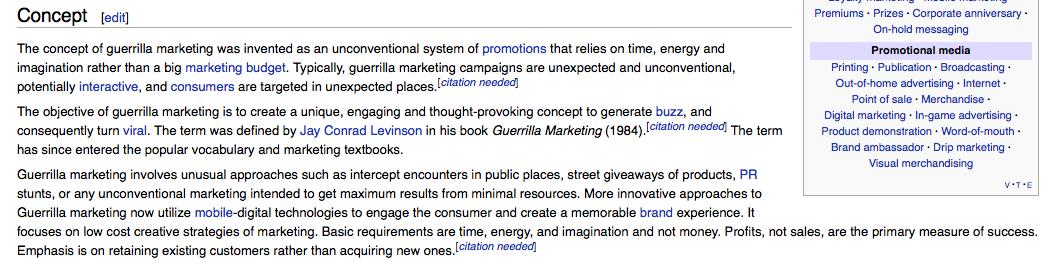 Guerrilla marketing research paper