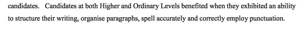 Spelling grammar structure